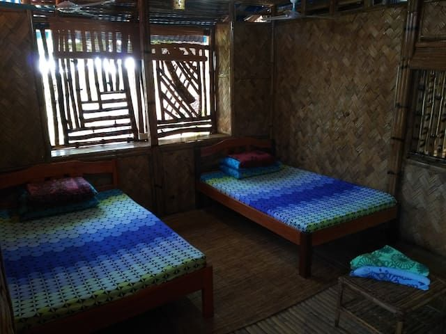 Bamboo House with 4 Private  Rooms