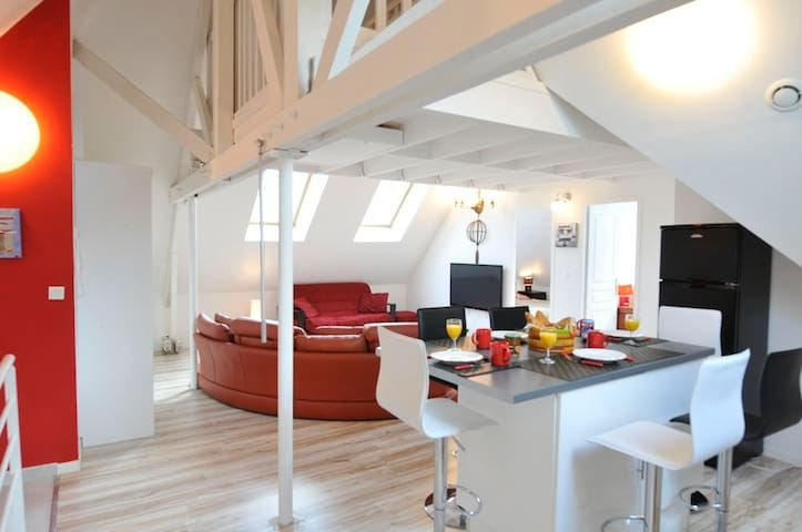 3 Creativ Penthouse near de Versailles-2 ml from Chateau 8 pers.