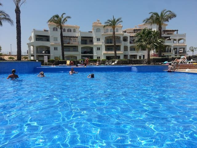 Holiday Apartment golf shared pool tennis sleeps 6