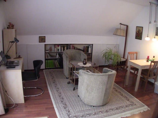 Wohnung m. Balkon und Dachterrasse / Apartment with Balcony/Patio