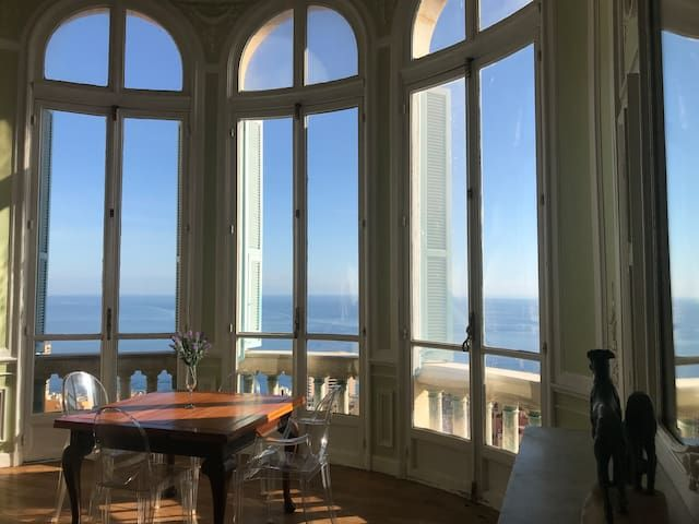 Riviera Palace, Historical Building With Sea View, Overlooking Monte Carlo.