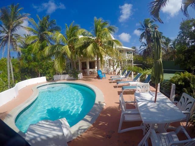 oceanfront house rental in caribbean island