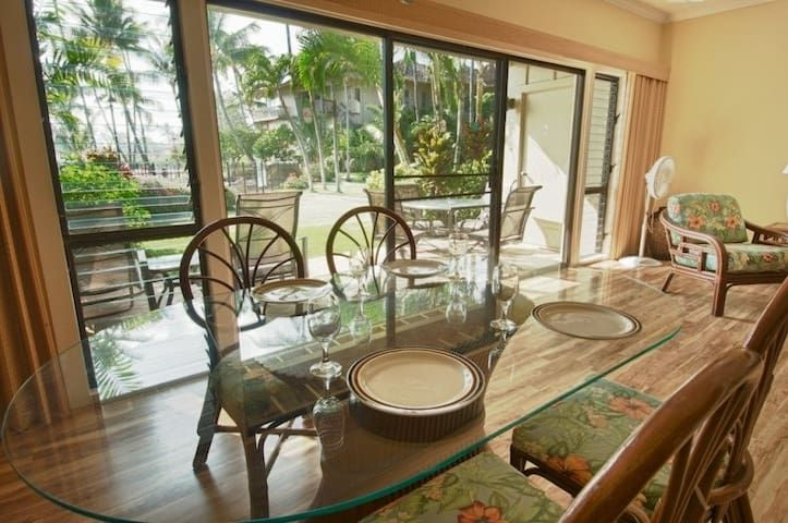 Handicap easy..Oceanfront, ground floor, Lae nani