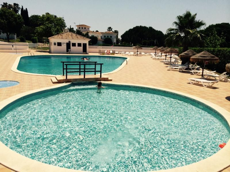 Beach and swimming pool at algarve