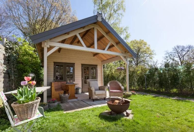 Unique wooden cabin with garden