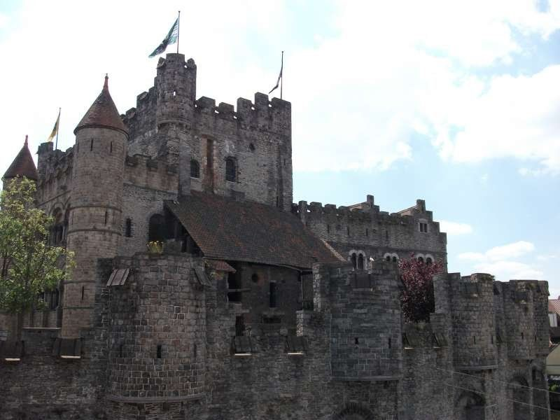 Historical house in front of Gravensteen.